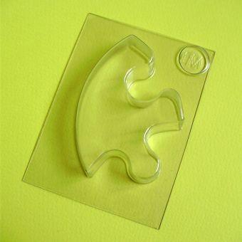 Пластиковая форма для мыла - Пазл, арт-0106