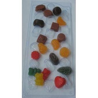Форма для мыла шоколад Конфетное ассорти