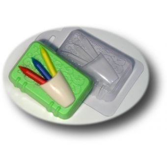Блокнот с карандашами - пластиковая форма