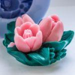 Букет из трех тюльпанов - силиконовая форма