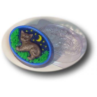 Лунный кот (овал) MF - пластиковая форма