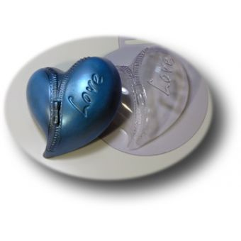 Сердце на молнии - пластиковая форма