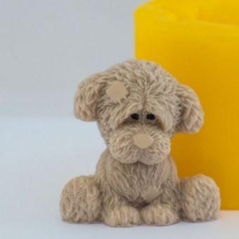 Грустный пёсик 3D  - силиконовая форма