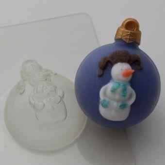 Шар Снеговик(ed) - пластиковая форма