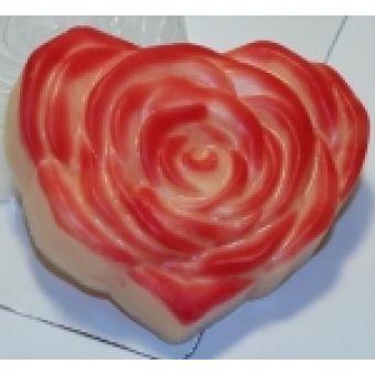 Сердце роза - пластиковая форма