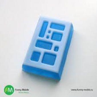 Форма для мыла Прямоугольник в клетку