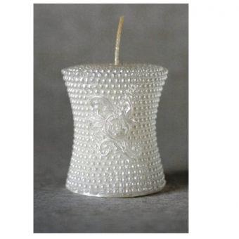 Свеча с розой в бусинах - силиконовая форма