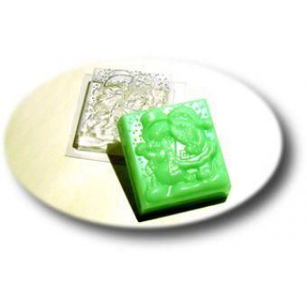 """Пластиковая форма для мыла """"Дед Мороз со снеговиком (mf)"""""""