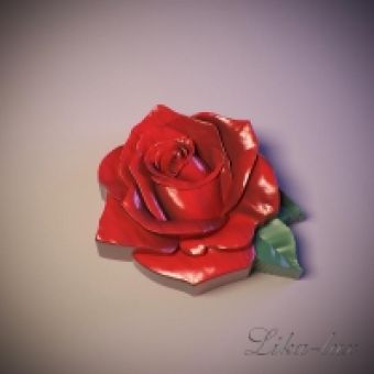 Бутон розы 2D (АКЦИЯ!!) - силиконовая форма