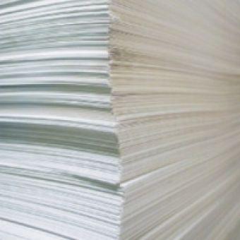 Самоклеящаяся бумага А4, белая