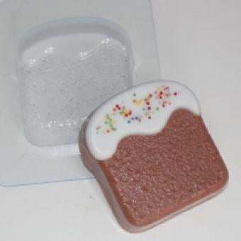 """Пластиковая форма для мыла """"Кулич плоский ED"""""""