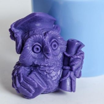 Мудрая сова 2 3D - силиконовая форма
