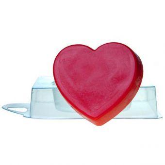 Пластиковая форма для мыла под заливку - Сердце pc