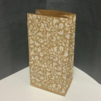 Крафт пакет, растительный орнамент, 100х70х200