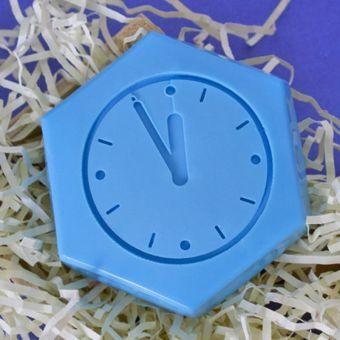 Силиконовый штамп для скрапбукинга - Новогодние часы