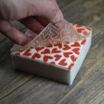 Силиконовый текстурный лист - Сердечки