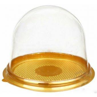 Упаковка для пирожных, мыла верх купол прозрачный пластиковый