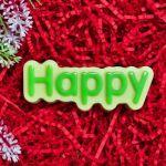 "Пластиковая форма ""Happy (счастливый) (надпись)"" - pc"
