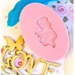 Силиконовый штамп для скрапбукинга - Ангел с сердечками