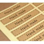 Hand made, 16 наклеек прямоугольных 1,5х7см (набор)