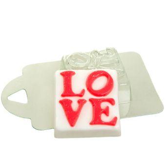 Квадрат LOVE (pc) - пластиковая форма