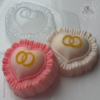 Сердце с кольцами - пластиковая форма