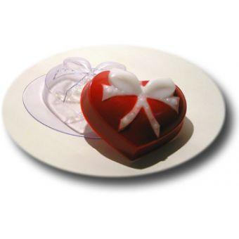 Сердце с бантиком - пластиковая форма