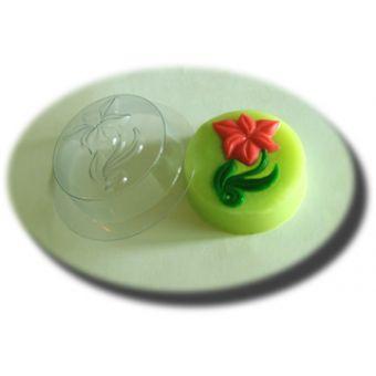 Пластиковая форма для мыла - Цветок в круге MF