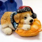 Новогодний щенок 3D - силиконовая форма