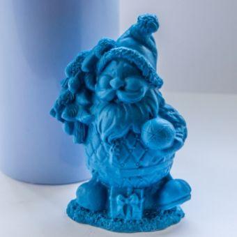 Дед мороз с елочкой 3 - силиконовая форма