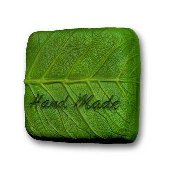 "Пластиковая форма для мыла ""Квадрат лист Hand Made (РС)"""