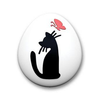 Котенок с бабочкой (pc) - пластиковая форма