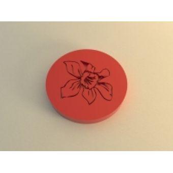 """Силиконовый штамп для скрапбукинга """"Цветок"""", d 4 см"""