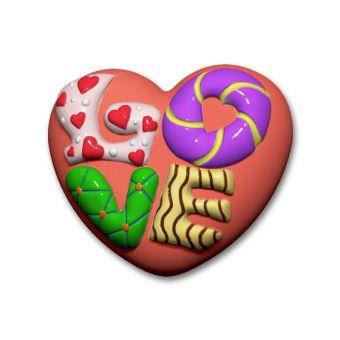 Сердце LOVE (pc) - пластиковая форма