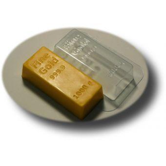 Золотой слиток - пластиковая форма