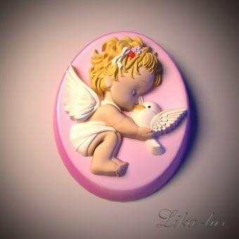 Ангелочек 40 2D - силиконовая форма