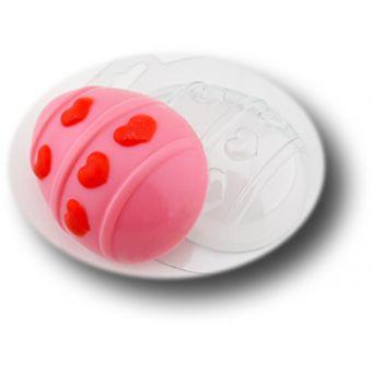 Яйцо большое с сердцами - пластиковая форма