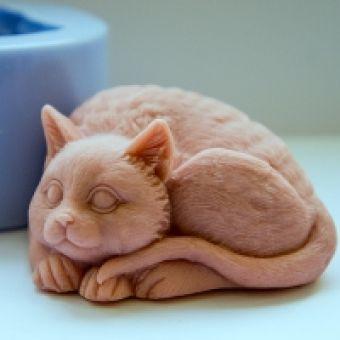 Кот 2 3D - силиконовая форма