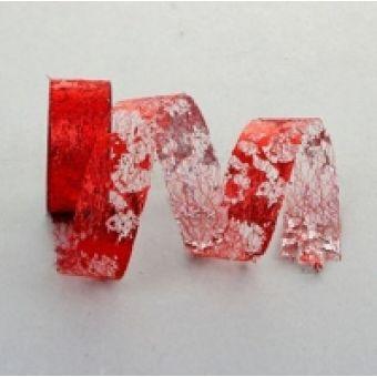 Лента упаковочная, красная, 3,8см, 1 м