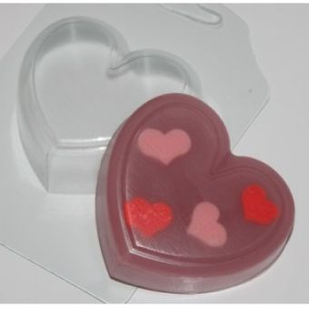 """Пластиковая форма для мыла """"Сердце (ed)"""" ХИТ!!!"""