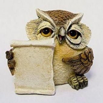 Мудрая сова 3D - силиконовая форма