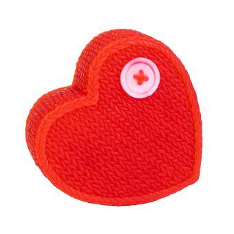 Сердце вязанное - силиконовая форма