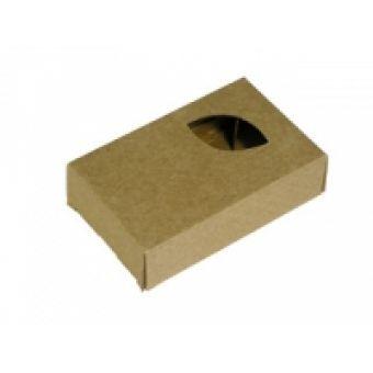 Подарочная коробка-крафт Лист кор.