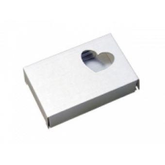 Подарочная коробка-крафт Сердечко, белая