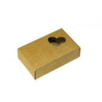 Подарочная коробка-крафт Сердечко, кор.