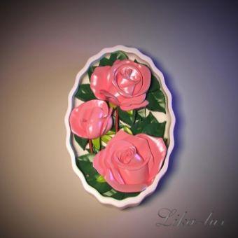 Букет роз 2D - силиконовая форма