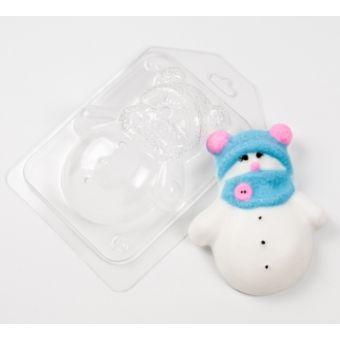 Снеговик в шапочке и шарфике  (ed) - пластиковая форма