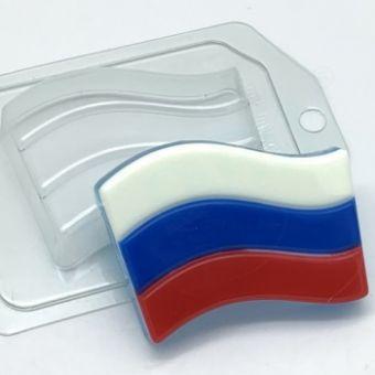 """Пластиковая форма для мыла """"Флаг -Триколор (ed)"""""""