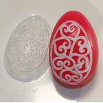 Яйцо - орнамент сердечки-завитушки - пластиковая форма