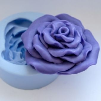 Роза объемная 3D - силиконовая форма